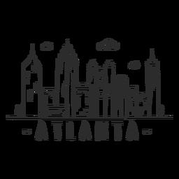 Adesivo de skyline de centro de arranha-céus do centro de negócios da torre da torre de Atlanta