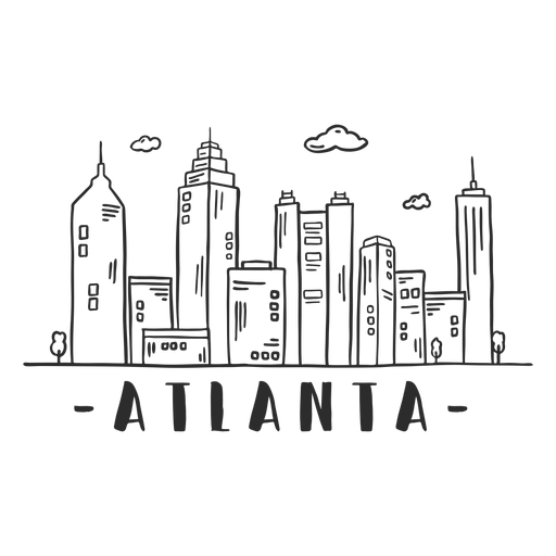 Atlanta spire tower business center sky scraper mall cloud skyline sticker Transparent PNG