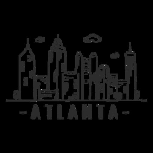 Pegatina del horizonte del centro comercial del rascacielos del centro de negocios de la torre de la torre de Atlanta