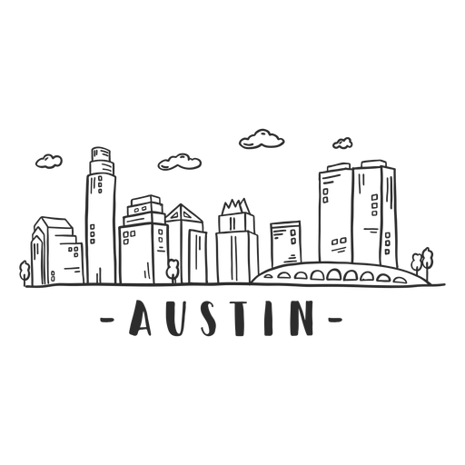 Austin bridge cathedral skyline sticker