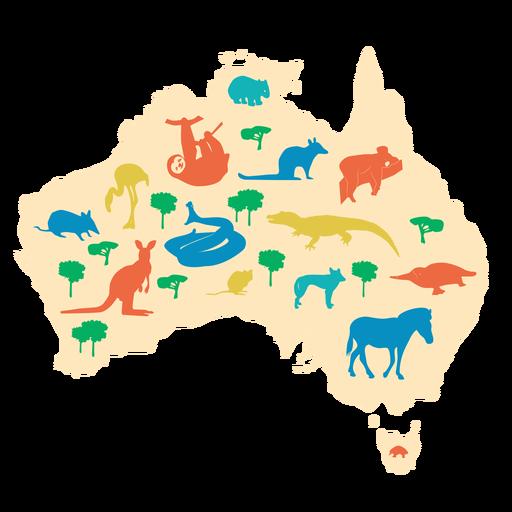 Ilustración de australia Transparent PNG