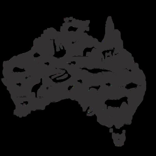 Silueta de australia Transparent PNG
