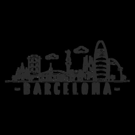 Barcelona monumento catedral arco palma torre castillo horizonte pegatina Transparent PNG