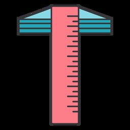 Balken-Kompass Mikrometer-Millimeter-Millimeter-Lineal flach