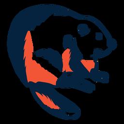 Ilustración de castor