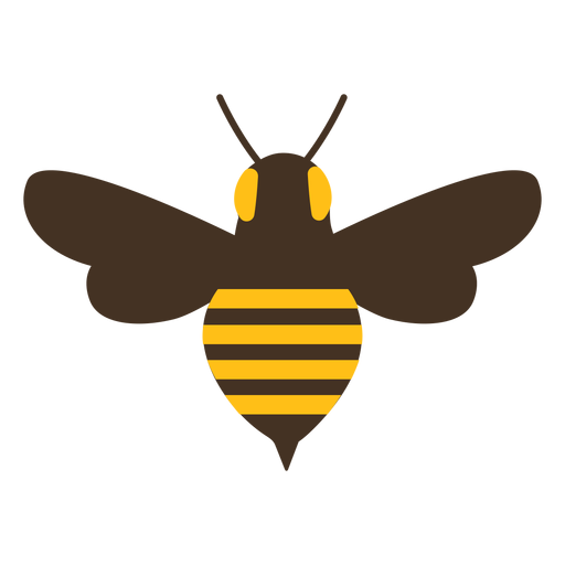 Bee wasp wing sting stripe icon Transparent PNG