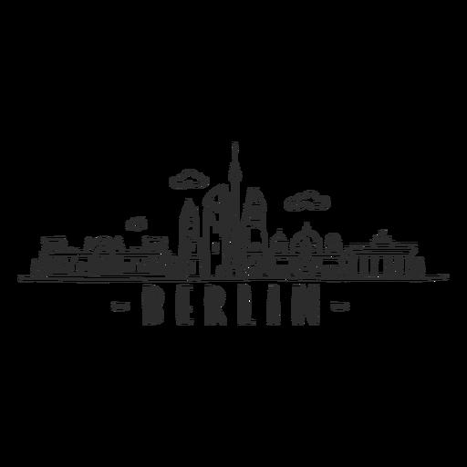 Berlin television tower reichstag brandenburg gate cathedral tower skyline sticker