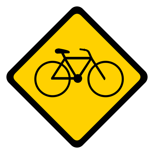 Bicicleta bicicleta rhomb aviso plano Transparent PNG