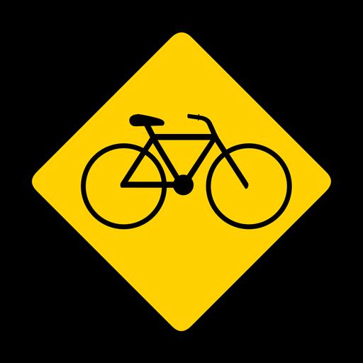 Bicycle bike rhomb warning flat Transparent PNG