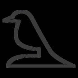 Pájaro pico paloma cuervo divinidad trazo