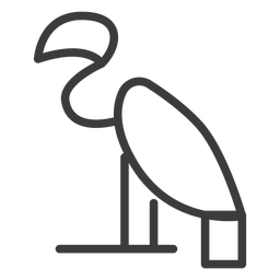 Pájaro divinidad cuello pico ala trazo