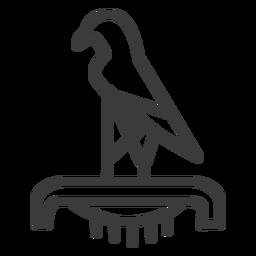 Bird falcon eagle crown ra beak pedestal stroke