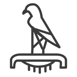 Pájaro Halcón Águila Corona Ra Pico Pedestal Trazo