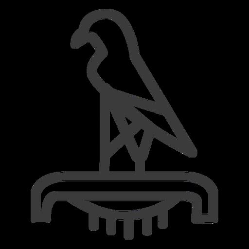 Bird falcon eagle crown ra beak pedestal stroke Transparent PNG