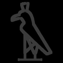 Schnabelanschlag des Vogelfalkenadlers Krone