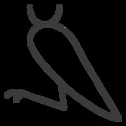 Curso de divindade de asa de perna de pássaro