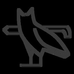 Pájaro pata ala búho águila búho divinidad trazo