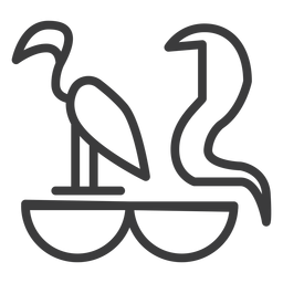 Pájaro serpiente animal divinidad cobra trazo