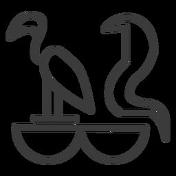 Vogelschlange Tier Göttlichkeit Kobra Schlaganfall