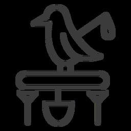 Bird staff pedestal beak wing divinity stroke