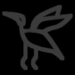 Vogel Storch fliegen Flug Flügelschlag