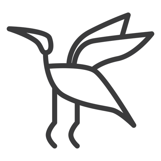 Pájaro cigüeña volar vuelo ala trazo