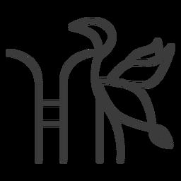 Bird stork wing tail divinity stroke