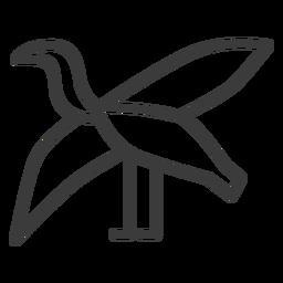 Ave cigüeña ala ala propagación trazo