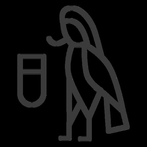 Pájaro ala pico imagen divinidad trazo. Transparent PNG