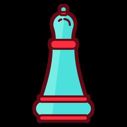 Obispo de ajedrez plana