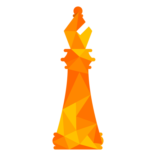 Bishop chess low poly Transparent PNG
