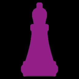 Obispo silueta de ajedrez