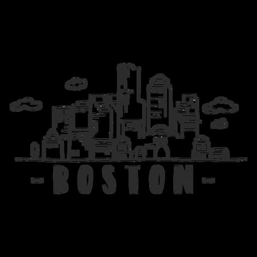 Boston arch sky scraper dome cloud skyline sticker Transparent PNG