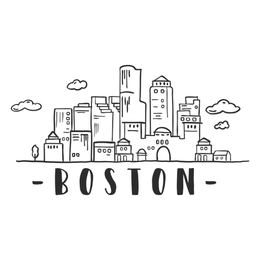 Boston arch sky scraper dome skyline sticker Transparent PNG
