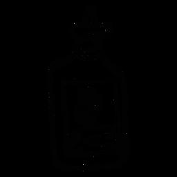 Esboço de deserto de cacto de emblema de garrafa