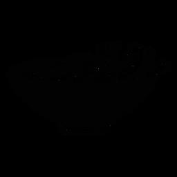 Esboço de mingau de pão de terrina de tigela