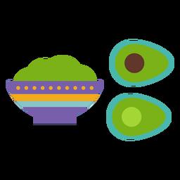 Schüssel Terrinenbrei-Avocado-Steinmuster flach