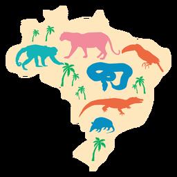 Ilustración de mapa de Brasil