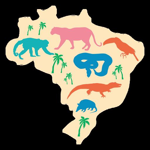 Brazil map illustration Transparent PNG