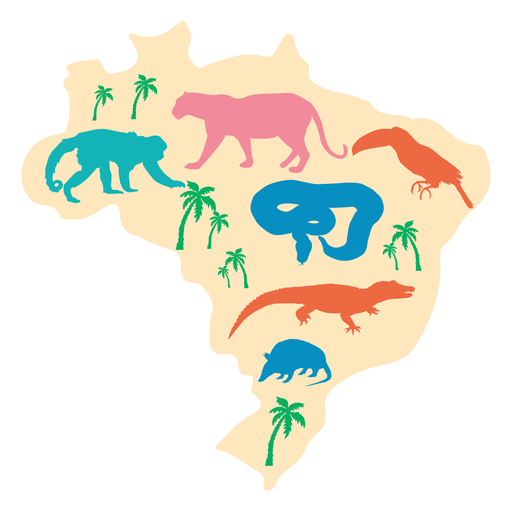 Ilustração do mapa do Brasil Transparent PNG