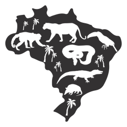Mapa de silueta de Brasil