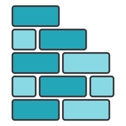 Brick wall square rectangle flat