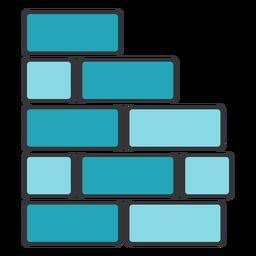 Rectángulo cuadrado de pared de ladrillo plano