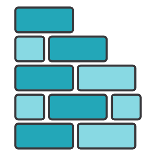 Brick wall square rectangle flat Transparent PNG