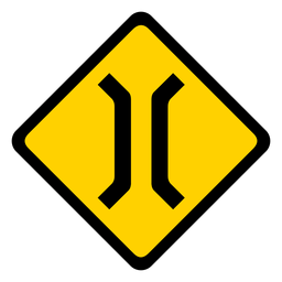 Bridge narrow rhomb warning flat