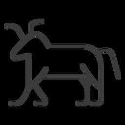 Curso de chifre animal de vaca de touro