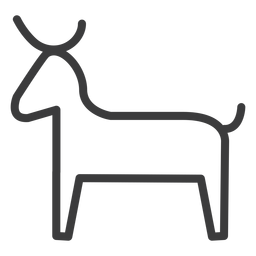 Bull cow horn cattle tail divinity stroke