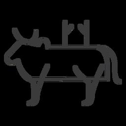Bull Kuh Horn Vieh Schwanz Buckel Göttlichkeit Schlaganfall