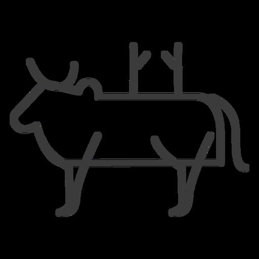 Touro vaca chifre gado cauda corcunda apego divindade Transparent PNG