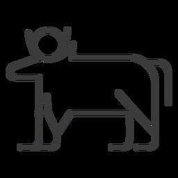 Bull cow isis sun horn divinity stroke